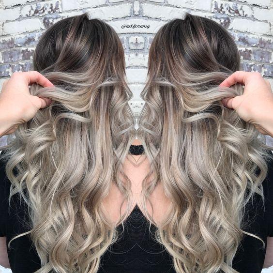 Темные корни светлые волосы (8)