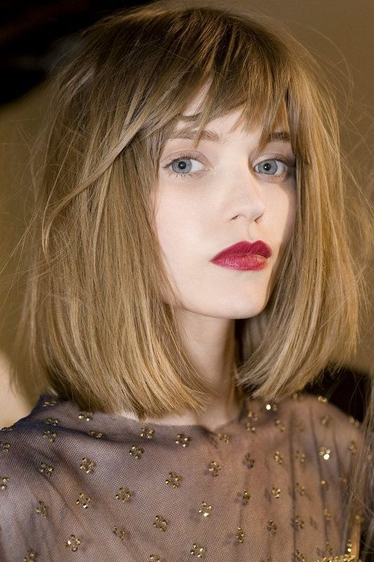 Чёлка на средние волосы 2019 (29)