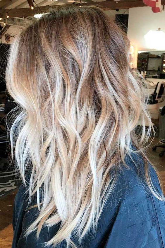 Темные корни светлые волосы (59)