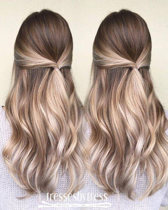 Темные корни светлые волосы (58)