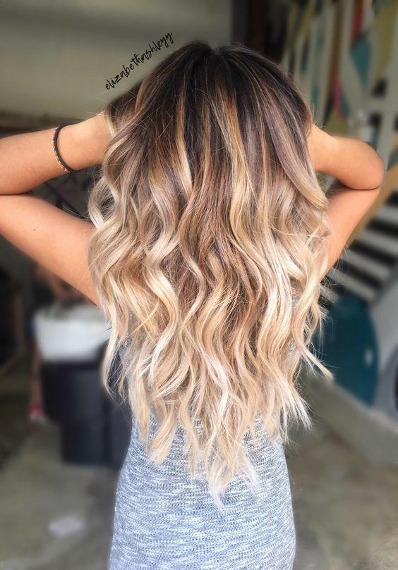 Темные корни светлые волосы (56)