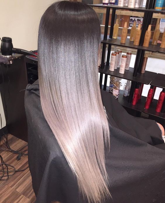 Темные корни светлые волосы (54)