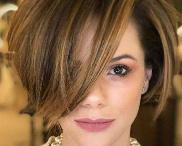 Чёлка на средние волосы 2019 (4)