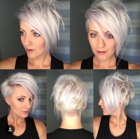 Новогодние причёски на короткие волосы 2019 (57)