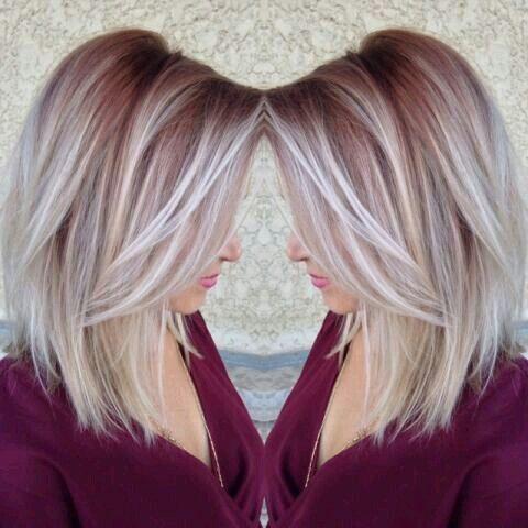 Чёлка на средние волосы 2019 (23)