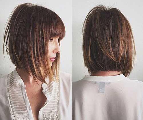 Чёлка на средние волосы 2019 (18)