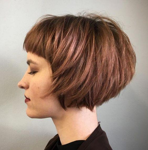 Чёлка на средние волосы 2019 (1)