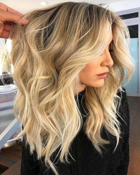 Темные корни светлые волосы (19)