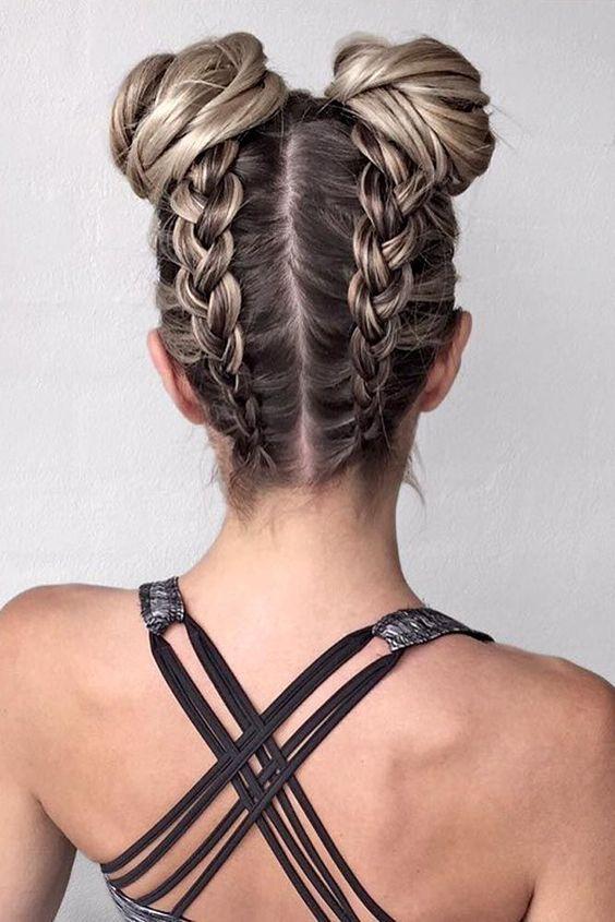 Причёски на выпускной 2019 для средних волос (29)