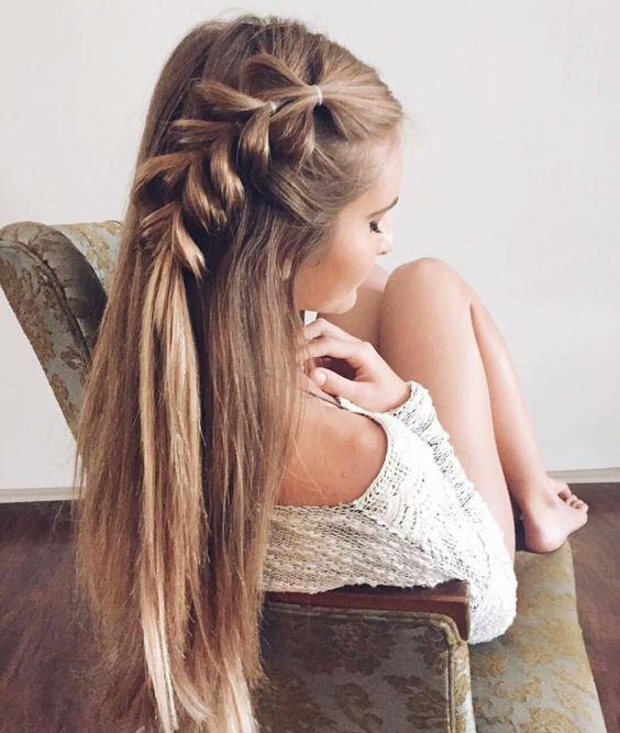 Причёски на выпускной 2019 для средних волос (34)