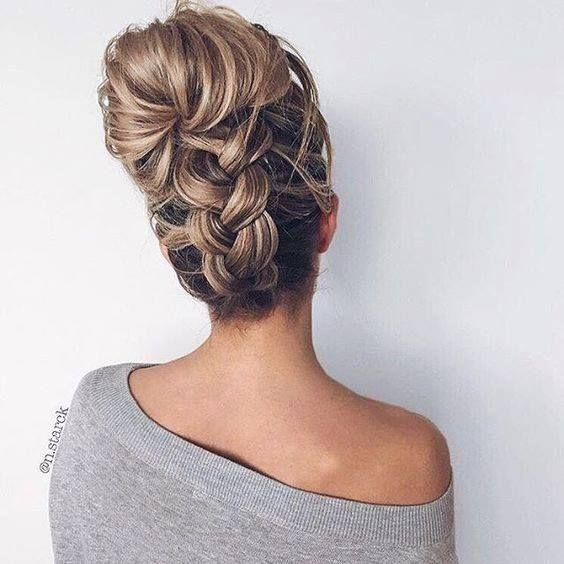Причёски на выпускной 2019 для средних волос (21)