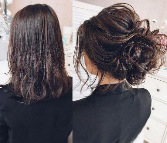 Причёски на выпускной 2019 для средних волос (19)