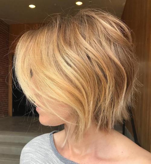 Короткие стрижки Блонд 2019 (32)