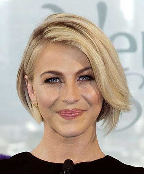 Короткие стрижки Блонд 2019 (26)