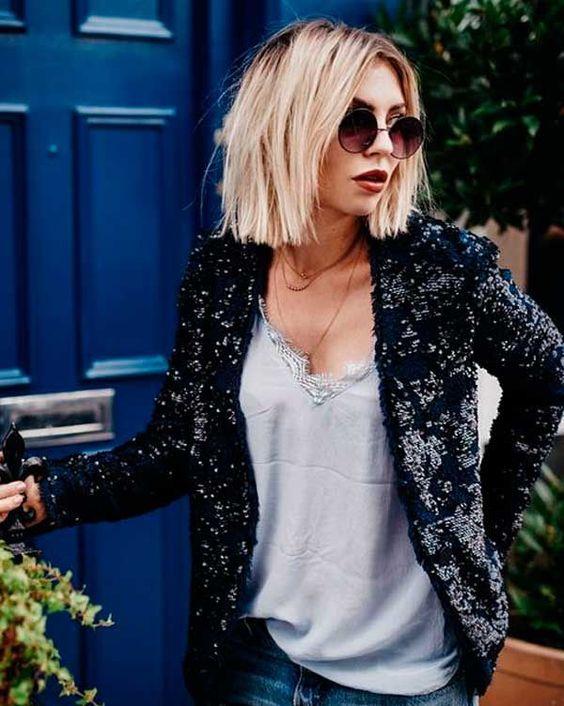 Короткие стрижки Блонд 2019 (25)