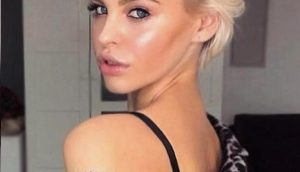 Короткие стрижки Блонд 2019 (4)
