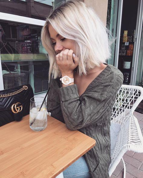 Короткие стрижки Блонд 2019 (8)