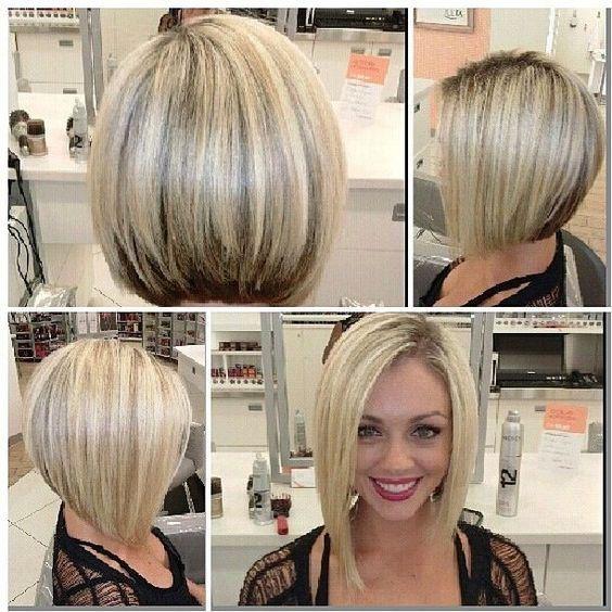 Короткие стрижки Блонд 2019 (27)