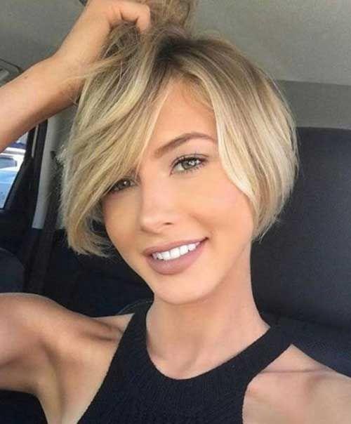 Короткие стрижки Блонд 2019 (22)