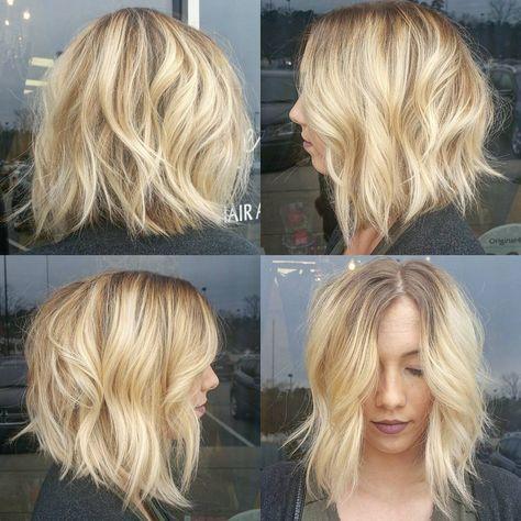 Короткие стрижки Блонд 2019 (19)