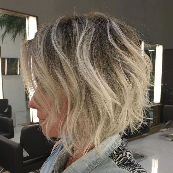 Короткие стрижки Блонд 2019 (17)