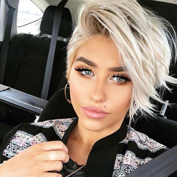 Короткие стрижки Блонд 2019 (2)