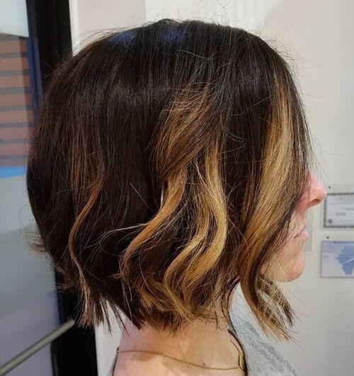 Стрижки на на средние волосы 2020 (50)