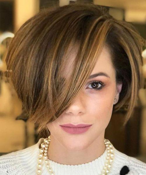 Стрижки на на средние волосы 2020 (49)