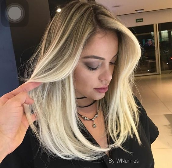 Стрижки на на средние волосы 2020 (78)