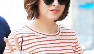 Чёлки на средние волосы 2020 (10)