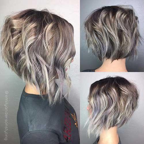 Мелирование на волосы средней длины (30)