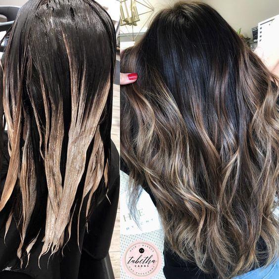 Мелирование на темные волосы 2020 (74)