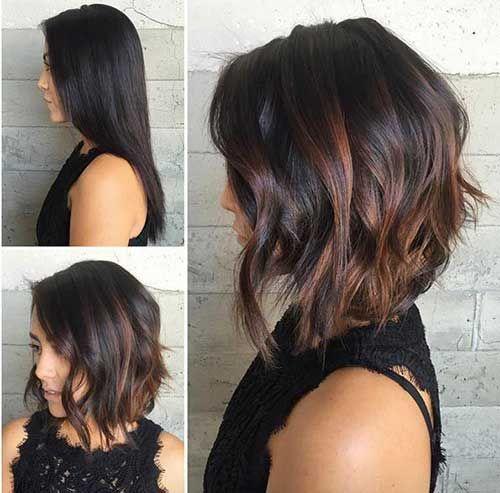 Мелирование на волосы средней длины (10)