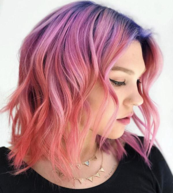 Мелирование на волосы средней длины (9)