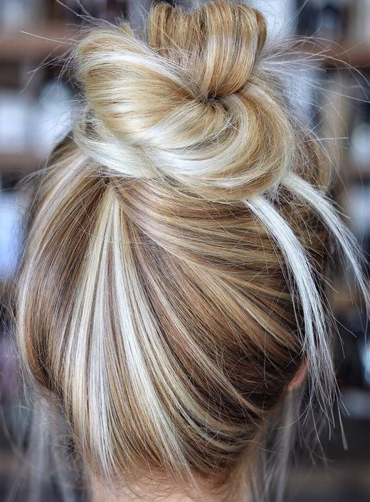 Мелирование на волосы средней длины (44)