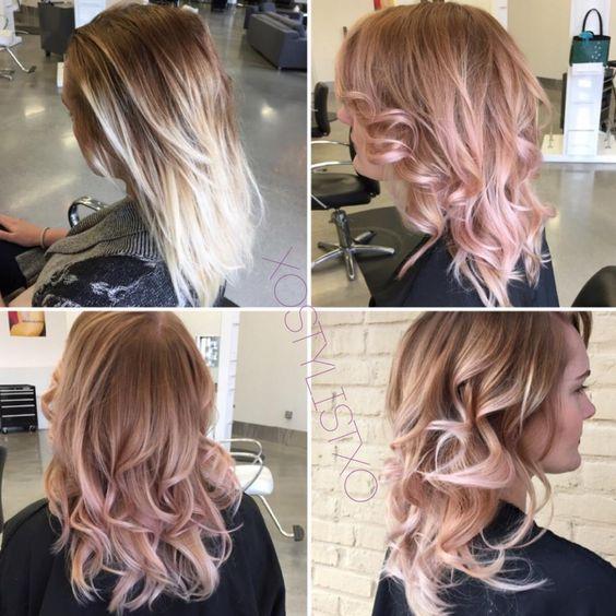 Мелирование на волосы средней длины (23)