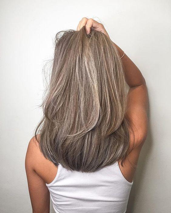 Мелирование на волосы средней длины (17)