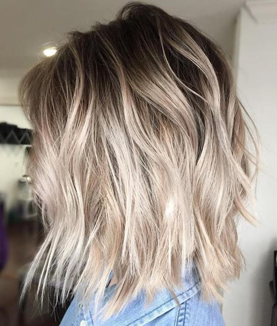 Мелирование на волосы средней длины (13)