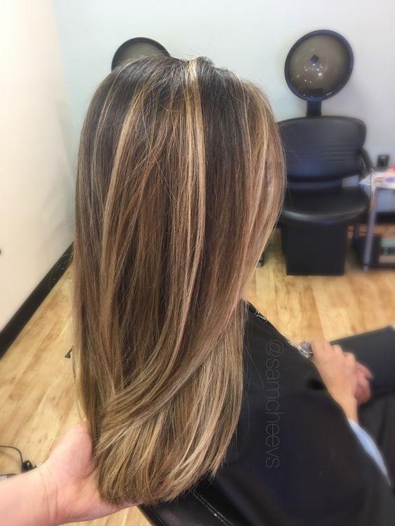 Мелирование на темные волосы 2020 (15)
