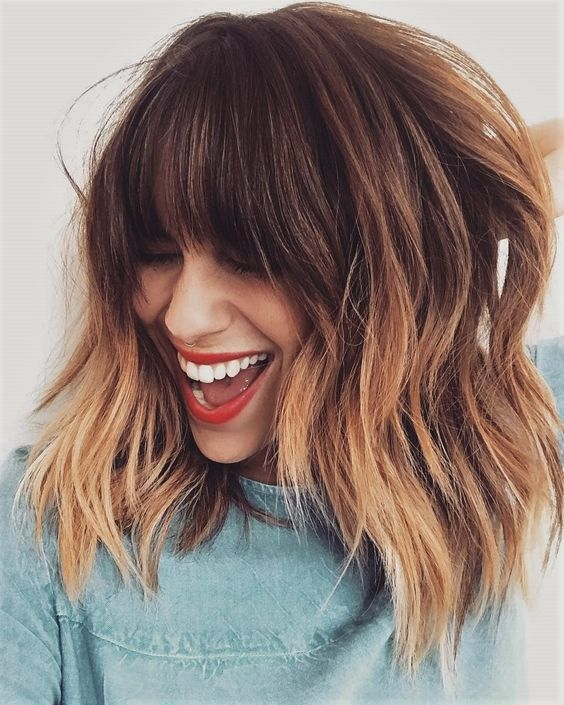 Мелирование на волосы средней длины (67)
