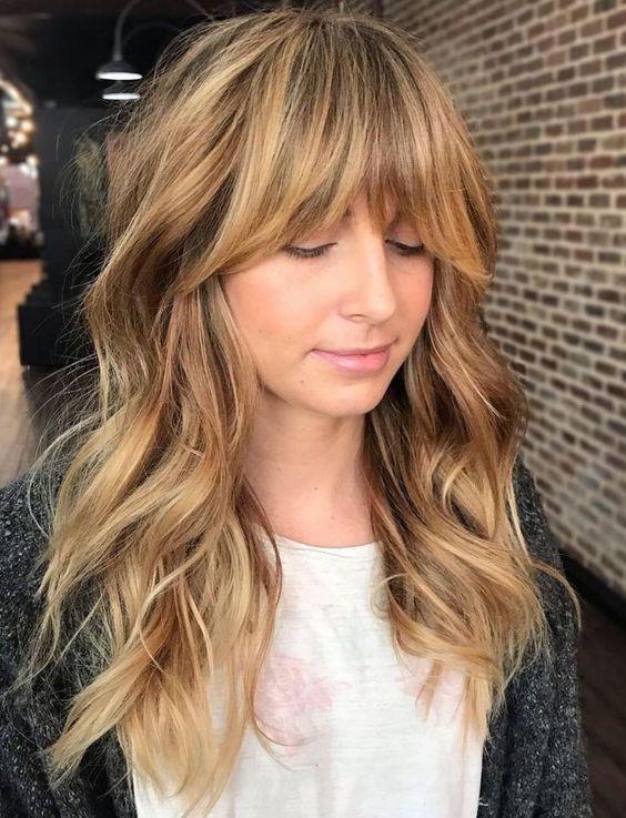 Мелирование на волосы средней длины (39)