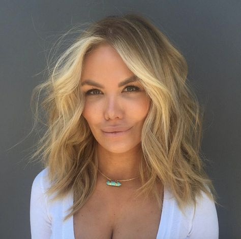 Мелирование на волосы средней длины (53)