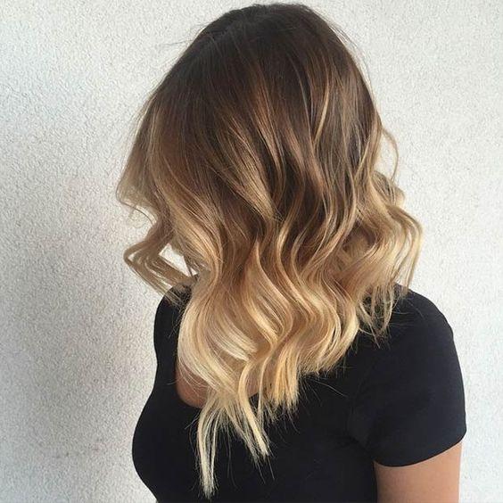 Мелирование на волосы средней длины (52)