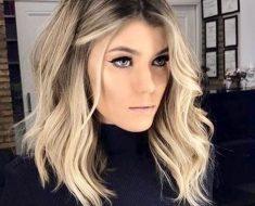 Мелирование на волосы средней длины (79)