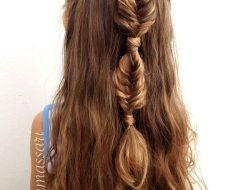 Причёски на выпускной 2020 для средней длины волос (5)